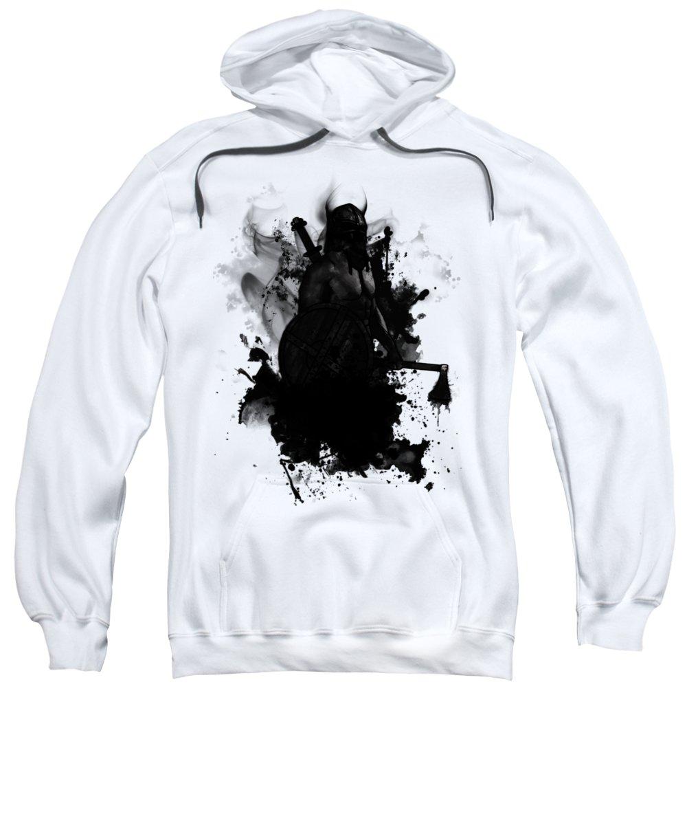 Viking Sweatshirt featuring the digital art Viking by Nicklas Gustafsson