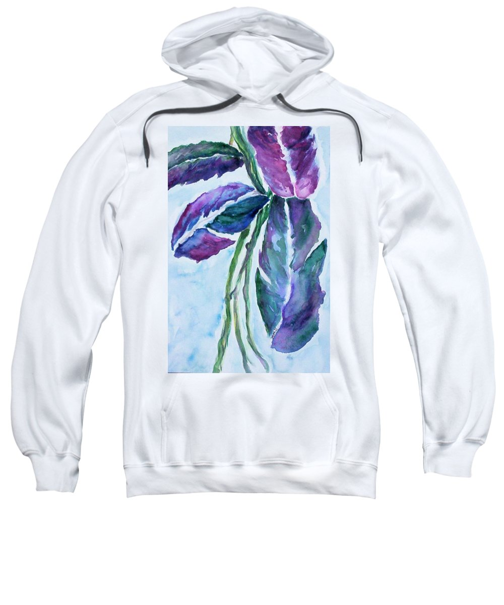 Landscape Sweatshirt featuring the painting Vine by Suzanne Udell Levinger