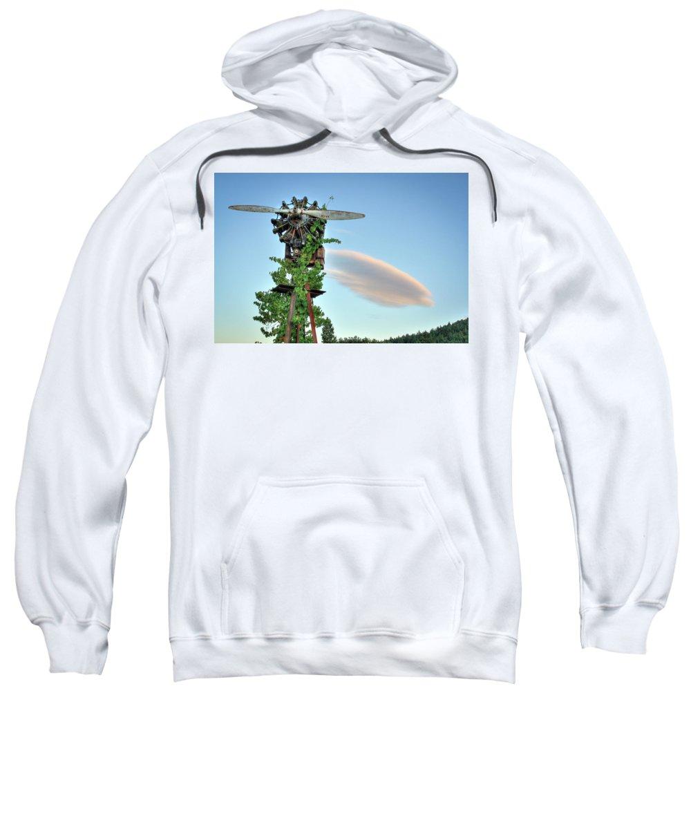 Vineyard Sweatshirt featuring the photograph Vineyard Propeller 2 by Travis Elder