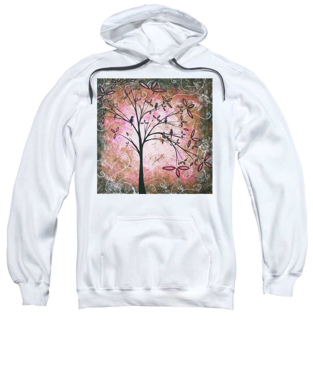 Art Sweatshirt featuring the painting Vintage Couture By Madart by Megan Duncanson