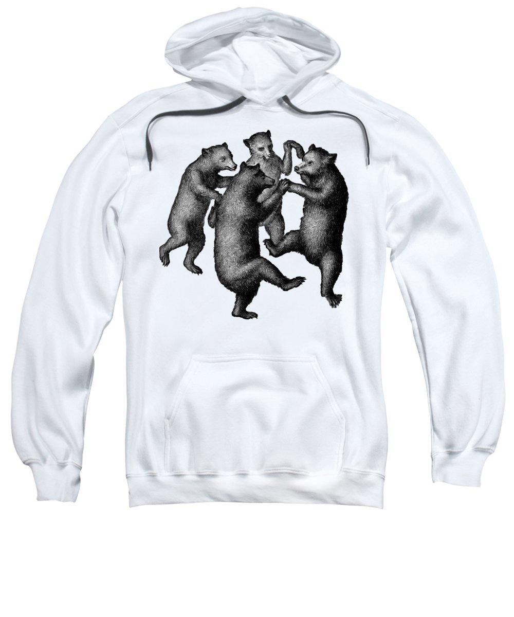 More From Edward Fielding Sweatshirt featuring the drawing Vintage Dancing Bears by Edward Fielding