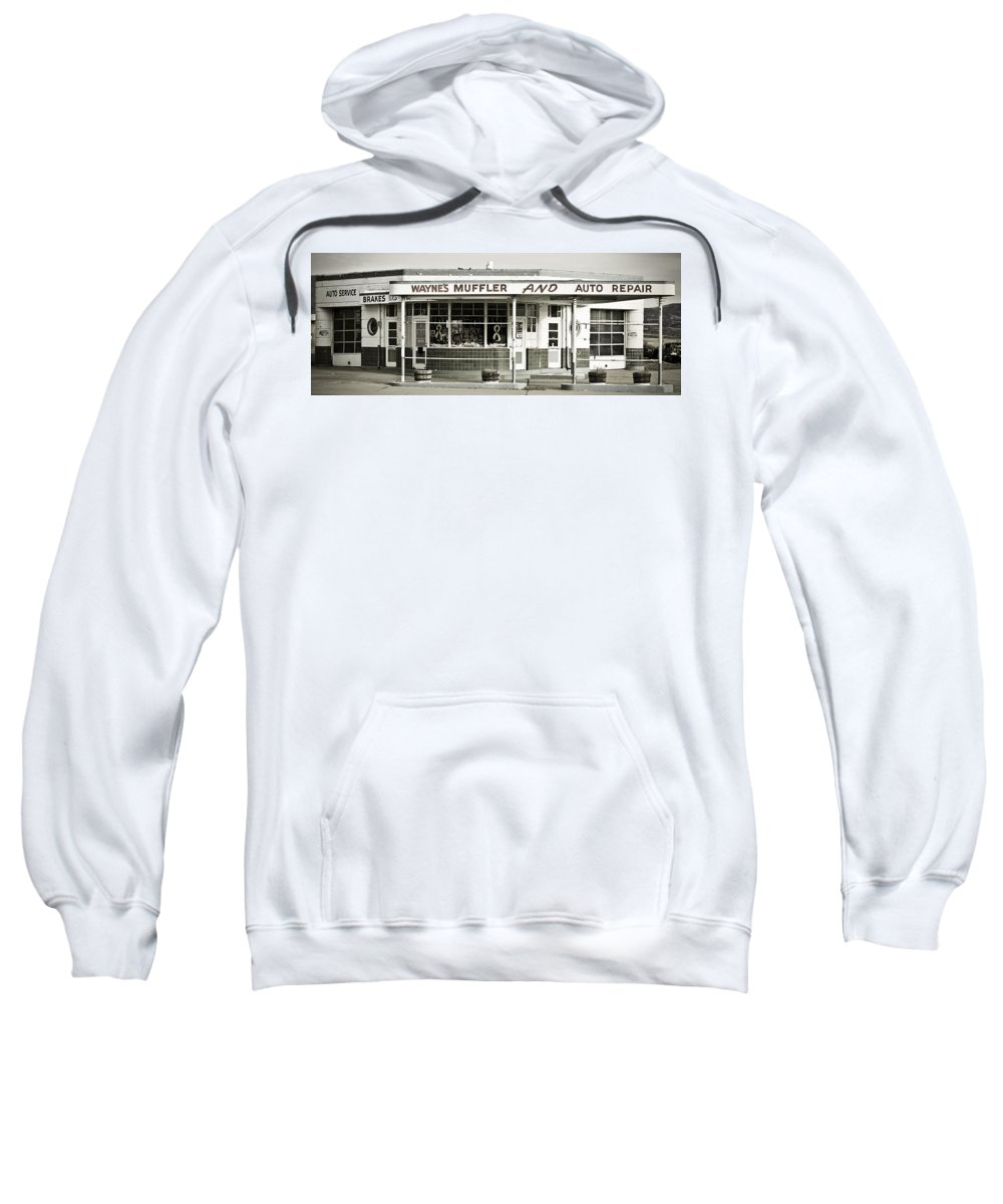 Filling Station Sweatshirt featuring the photograph Vintage Gas Station by Marilyn Hunt