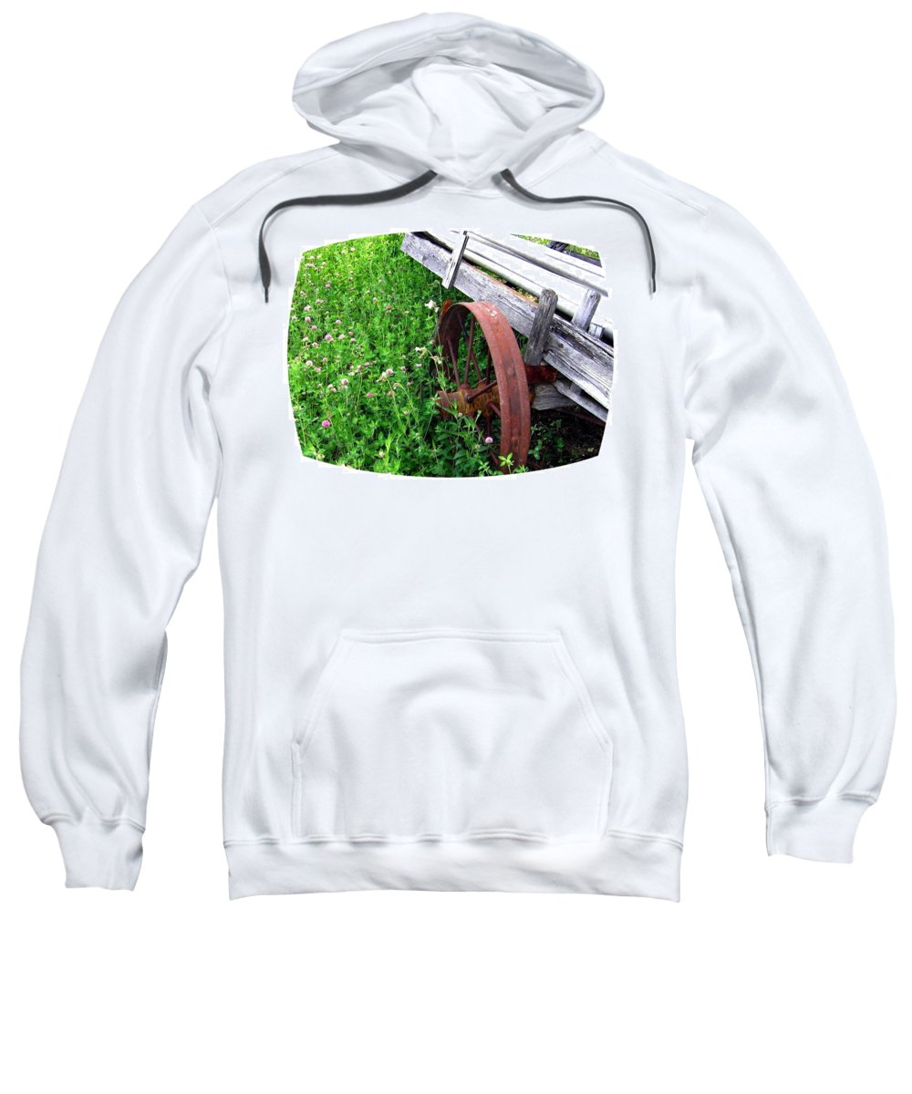 Irrigation Wagon Sweatshirt featuring the photograph Vintage Irrigation Wagon by Will Borden
