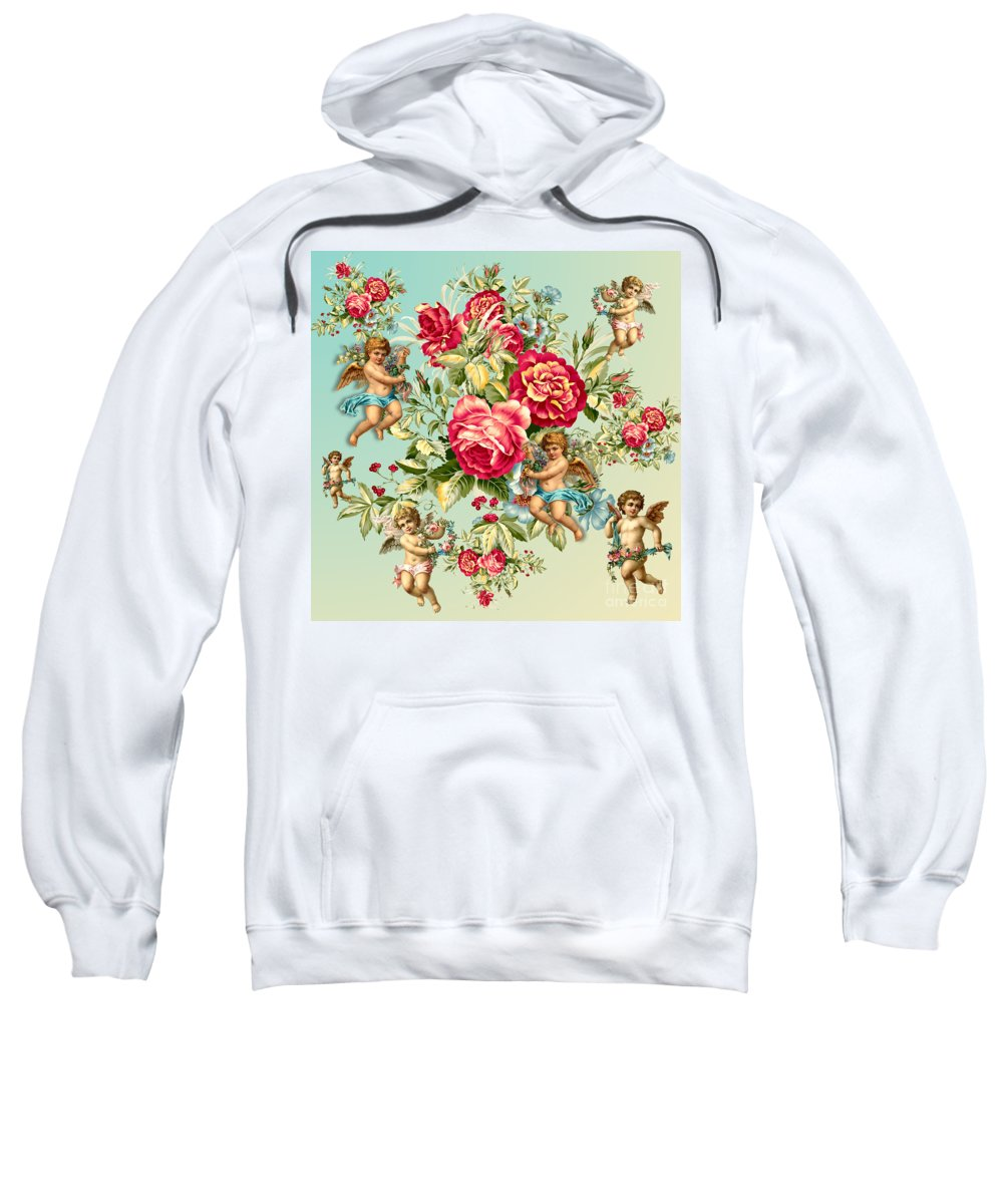 Cherry Sweatshirt featuring the painting Vintage by Mark Ashkenazi