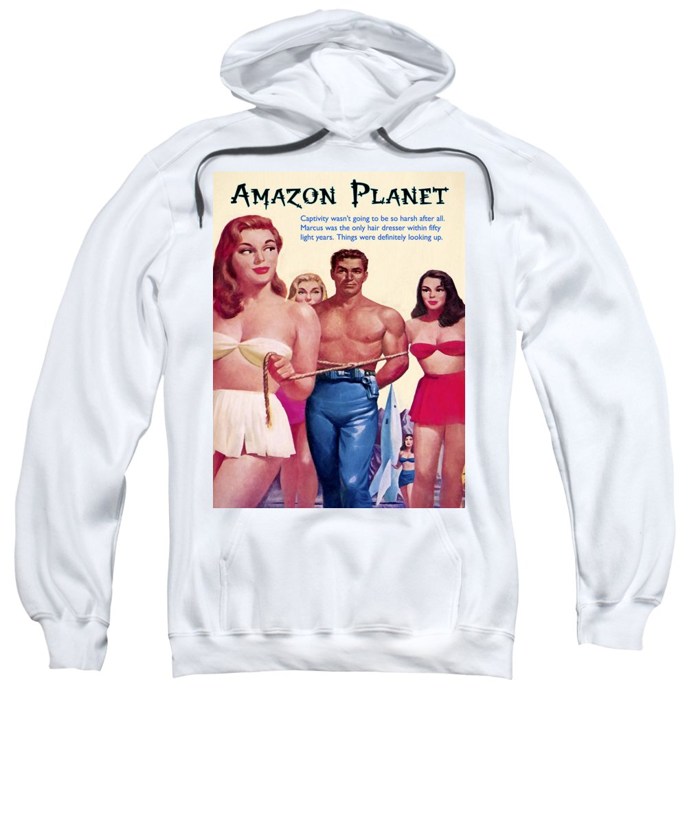 Amazon Planet Sweatshirt featuring the painting Amazon Planet by Dominic Piperata