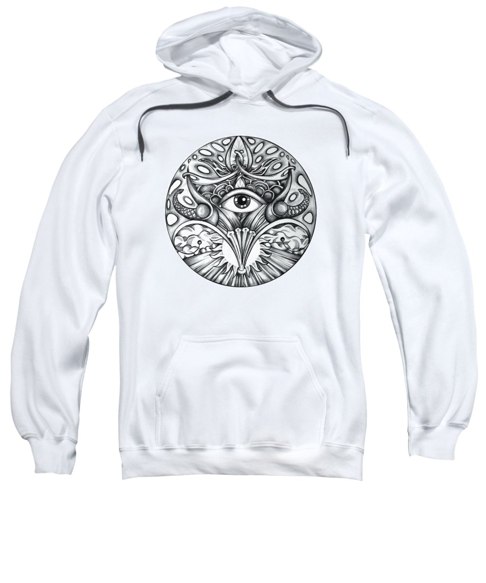 Eye Sweatshirt featuring the drawing Vision by Shadia Derbyshire