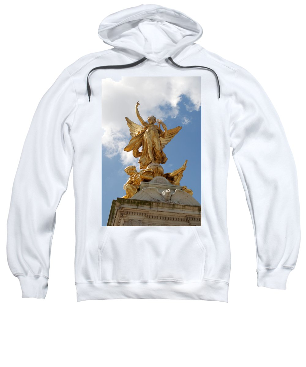 Victoria Sweatshirt featuring the photograph Vivtoria Memorial by Chris Day
