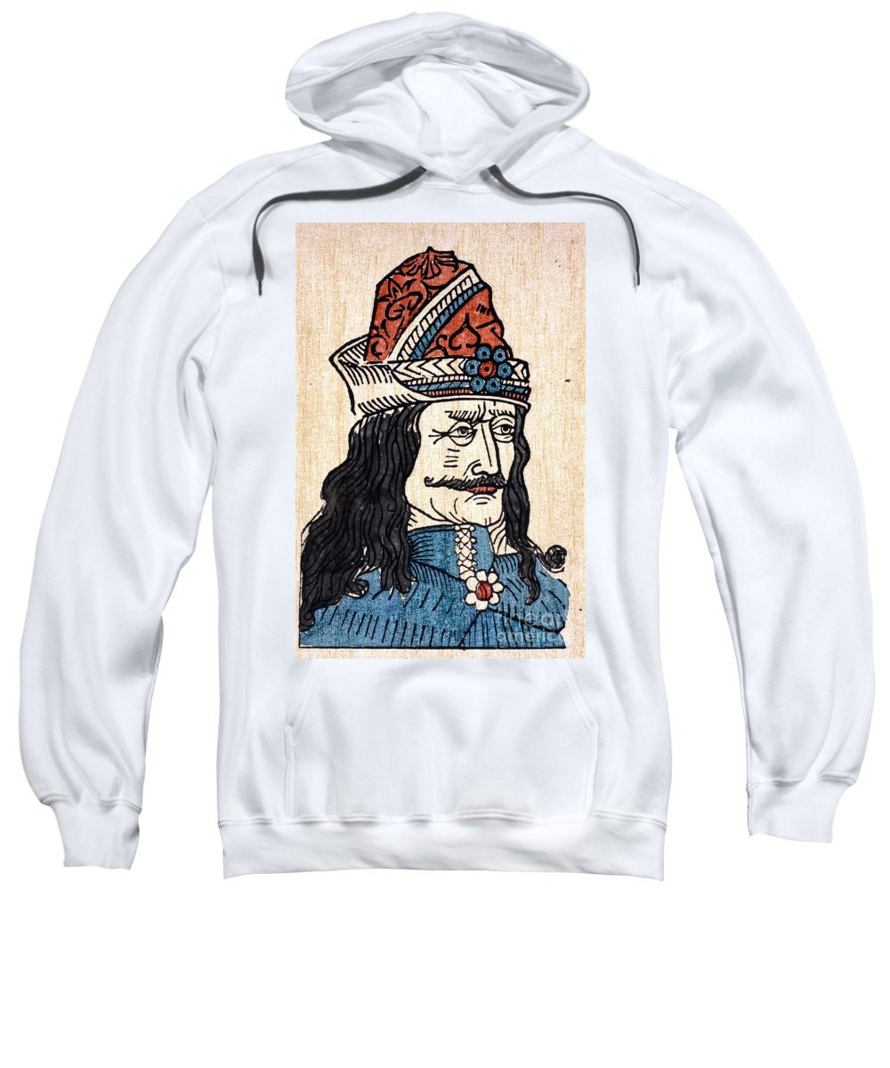 15th Century Sweatshirt featuring the photograph Vlad IIi (1431-1477) by Granger