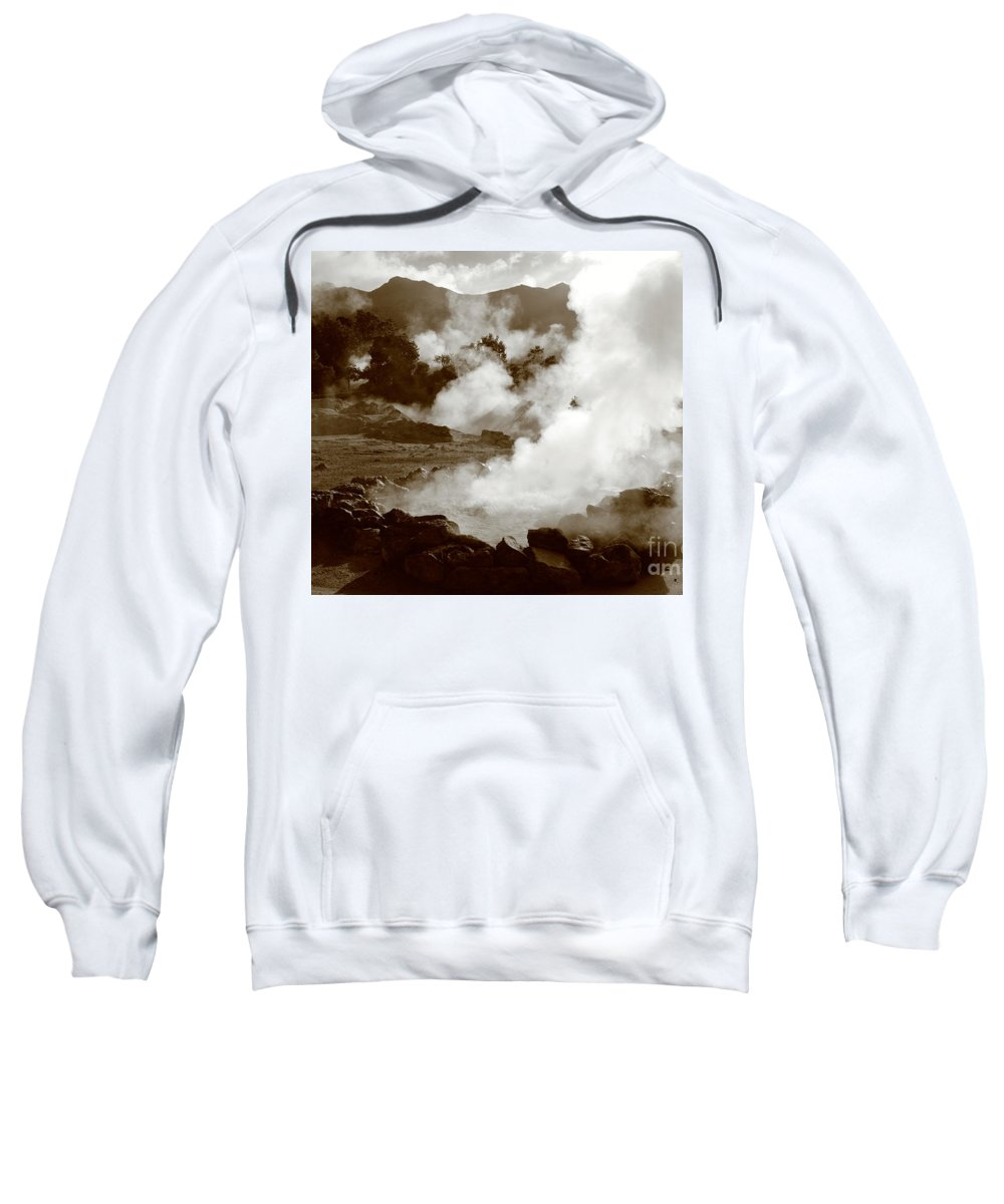 Azores Sweatshirt featuring the photograph Volcanic Steam by Gaspar Avila