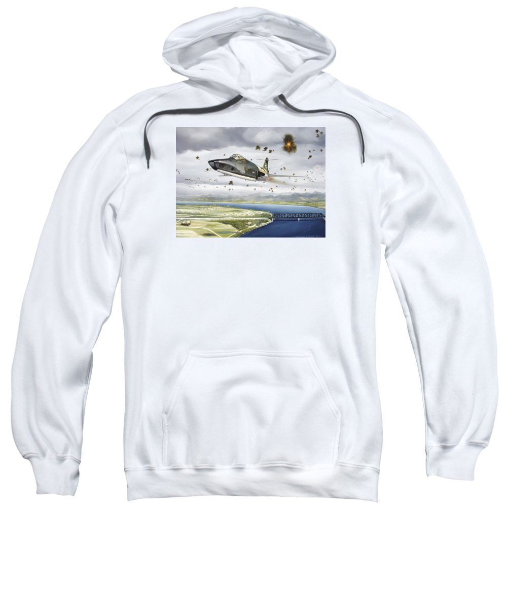 Military Sweatshirt featuring the painting Voodoo Vs The Dragon by Marc Stewart