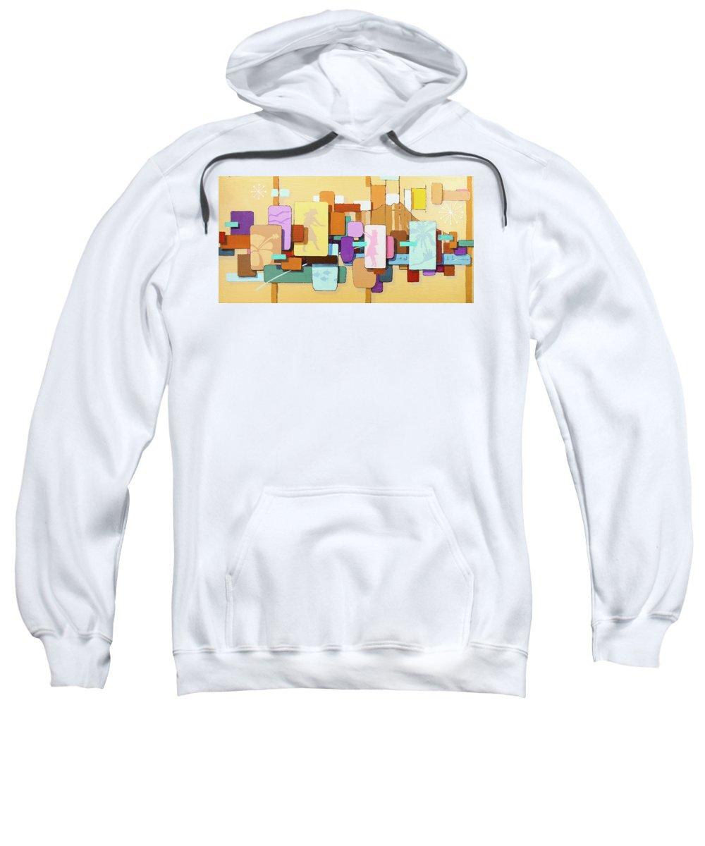 Mark Howard Sweatshirt featuring the painting Waikiki by Mark T Howard