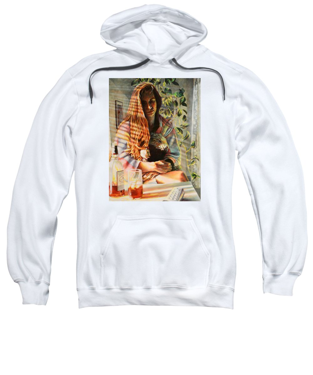 Realism Sweatshirt featuring the painting In Weight by Kenneth Cobb