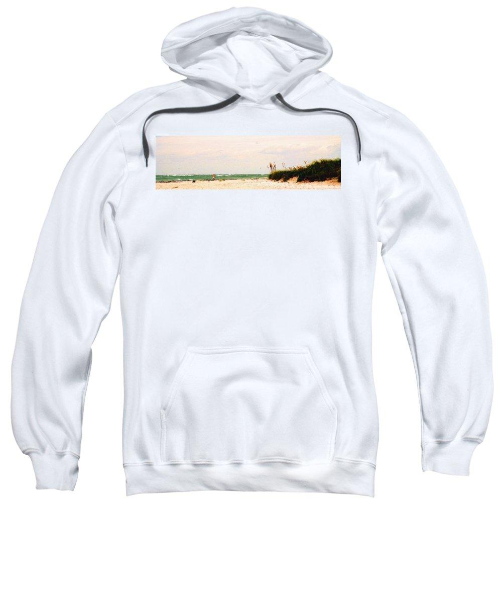 Florida Sweatshirt featuring the photograph Walking The Beach by Ian MacDonald