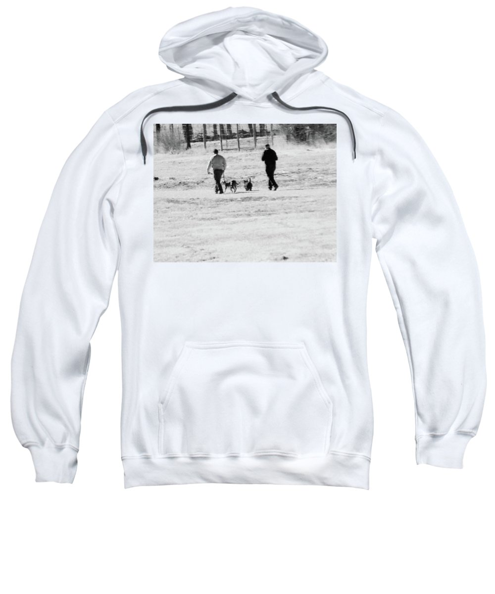 Abstract Sweatshirt featuring the photograph Walking The Dogs by Lenore Senior