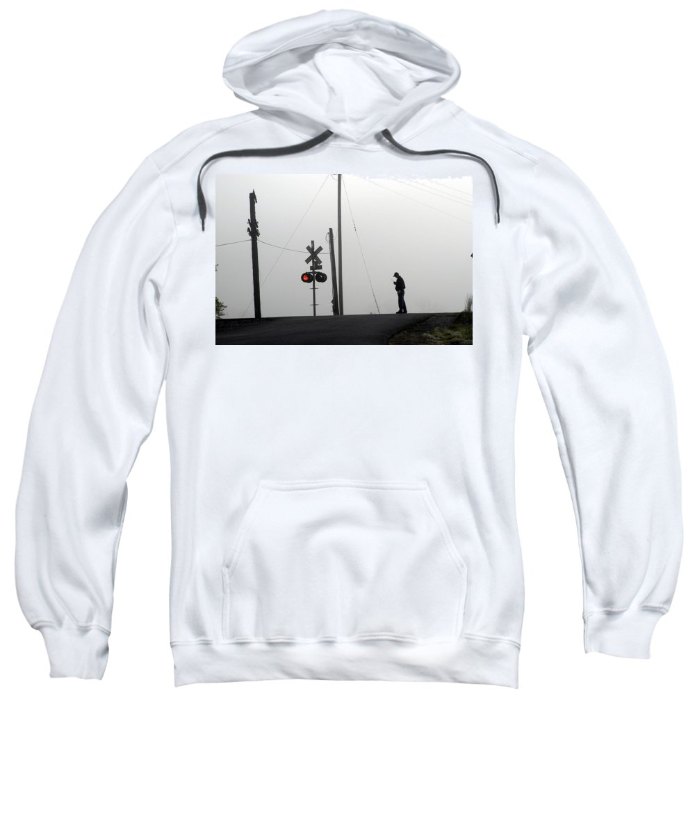 Railway Sweatshirt featuring the photograph Walking The Line by D'Arcy Evans