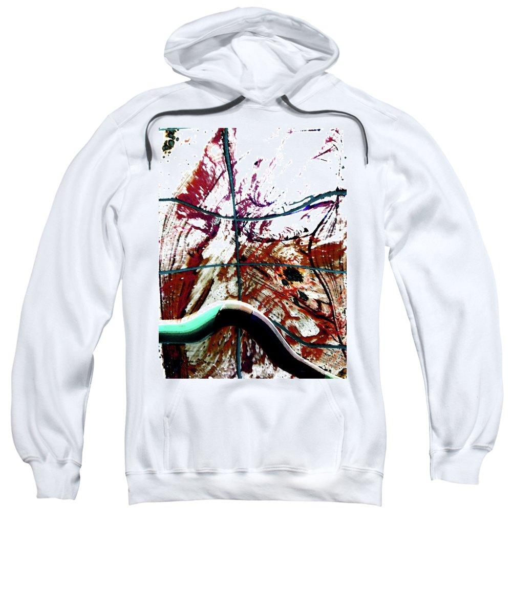 Abstract Sweatshirt featuring the digital art Walkway Between Global Wars-a History by Lenore Senior