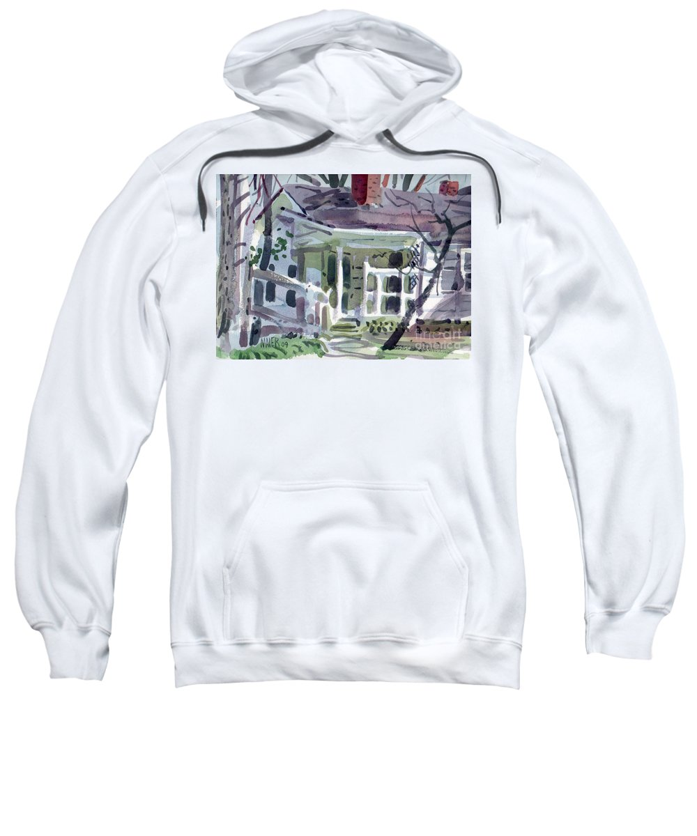 Wallis House Sweatshirt featuring the painting Wallis House by Donald Maier