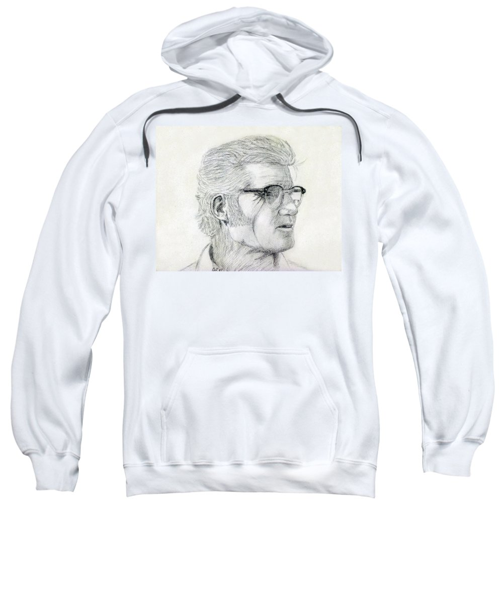 2d Sweatshirt featuring the drawing Ward by Brian Wallace