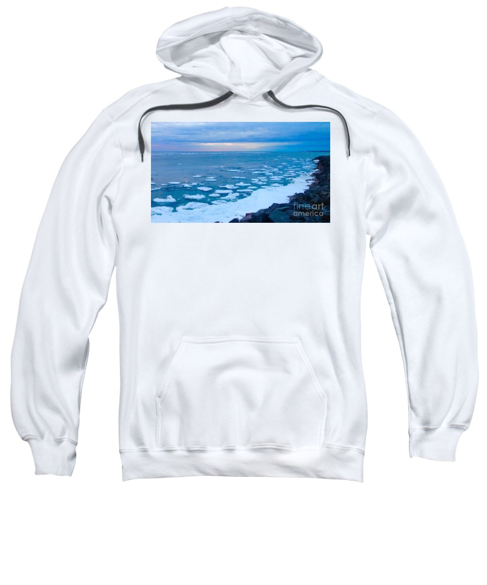 Lake Ontario Melting Sweatshirt featuring the photograph Warming Waters 2 by Chris Dippel