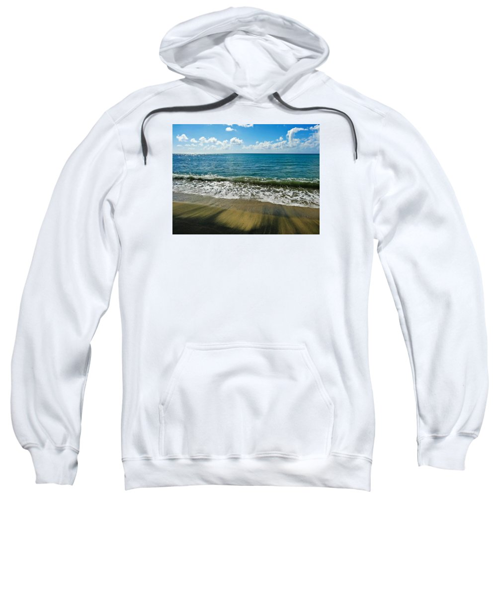 Waves Sweatshirt featuring the photograph Wash Out by Becki Kremer