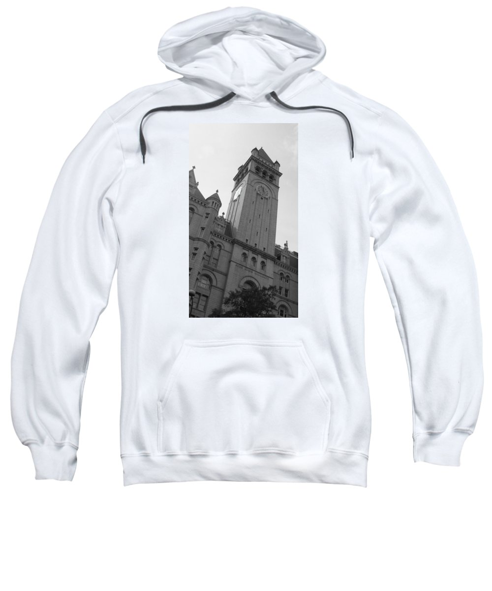 Washington Sweatshirt featuring the photograph Washington In Bw by Maria Keady