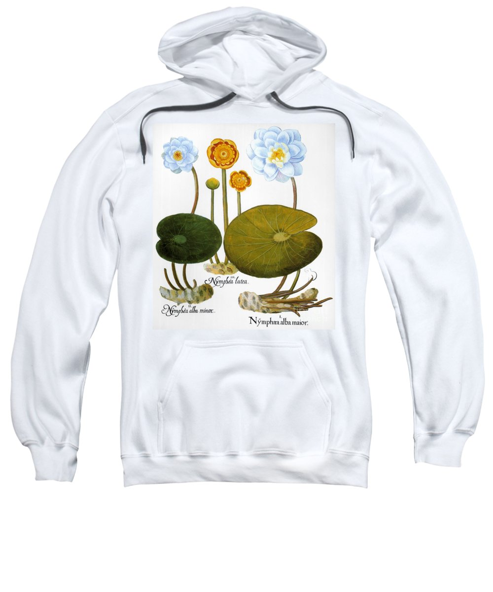 1613 Sweatshirt featuring the photograph Water Lily, 1613 by Granger