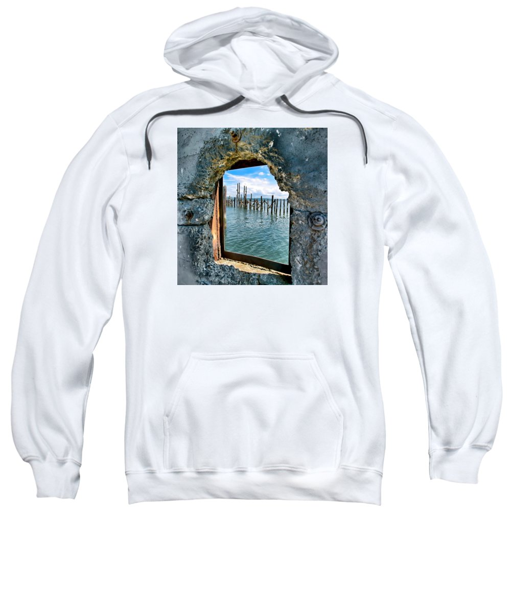 Water Sweatshirt featuring the photograph Water Window by Joshua Fischl