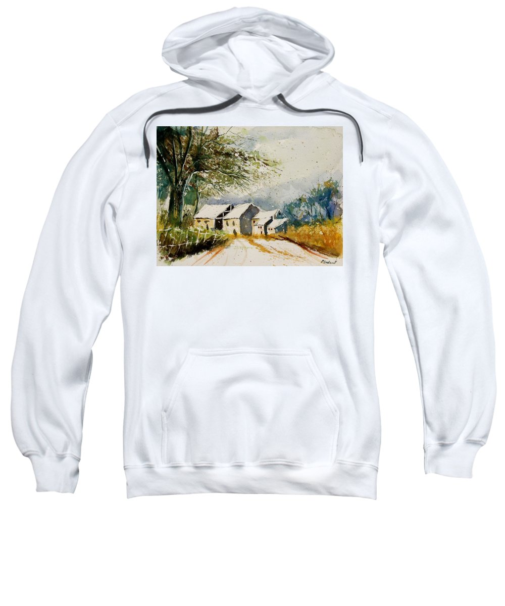 Landscape Sweatshirt featuring the painting Watercolor 010708 by Pol Ledent