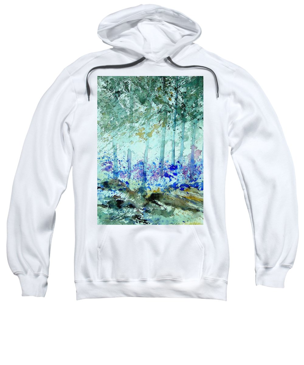Tree Sweatshirt featuring the painting Watercolor 011105 by Pol Ledent