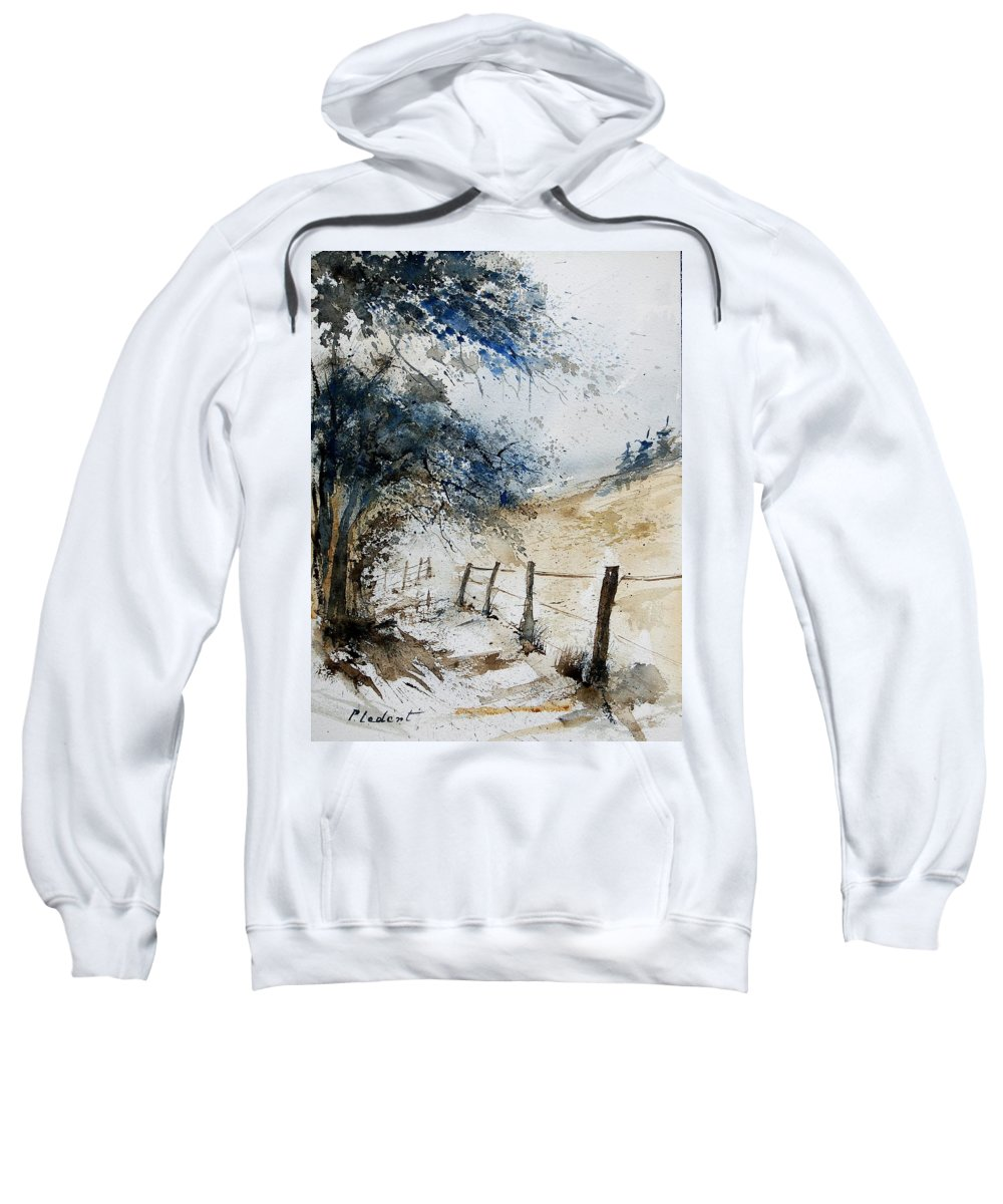 Winter Sweatshirt featuring the painting Watercolor 061106 by Pol Ledent