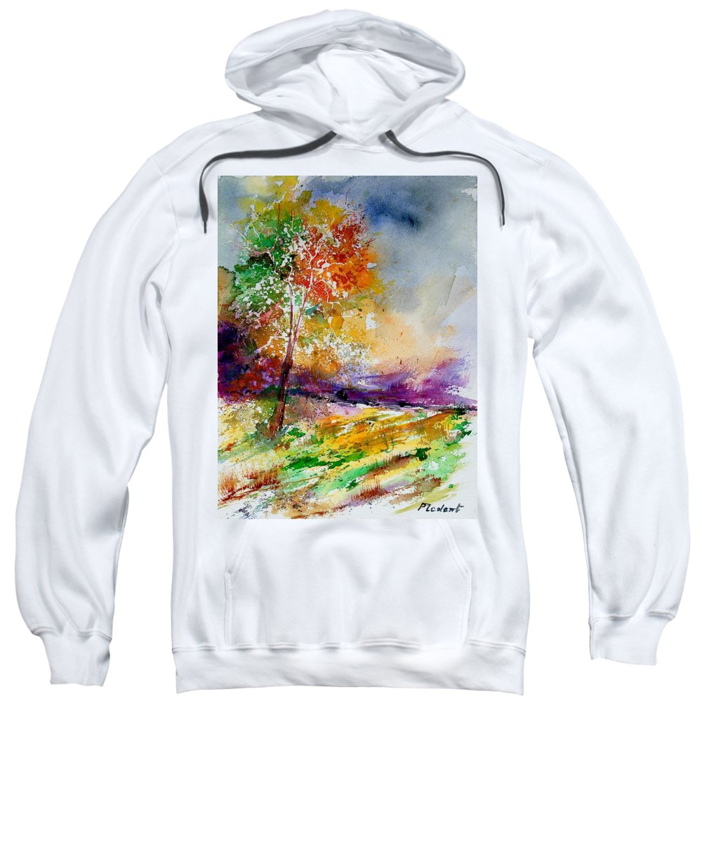 Spring Sweatshirt featuring the painting Watercolor 100507 by Pol Ledent