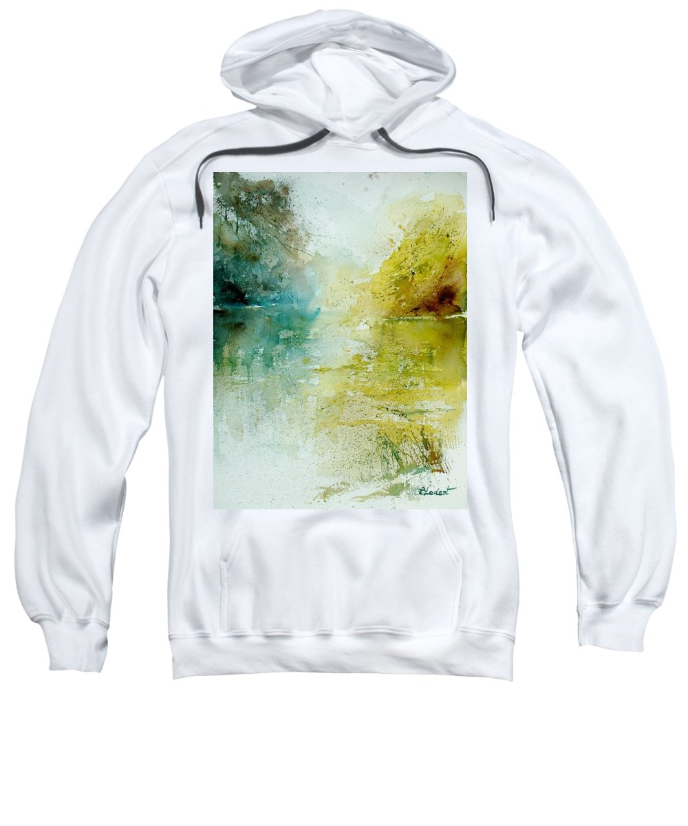 Water Sweatshirt featuring the painting Watercolor 111207 by Pol Ledent