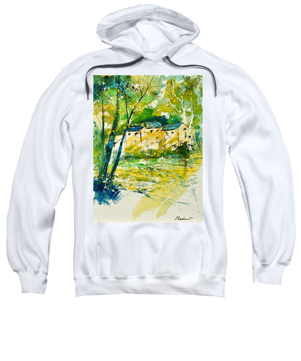 Landscape Sweatshirt featuring the painting Watercolor 115080 by Pol Ledent
