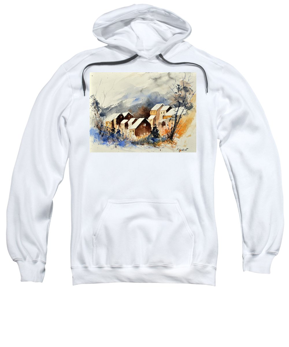 Landscape Sweatshirt featuring the painting Watercolor 115082 by Pol Ledent