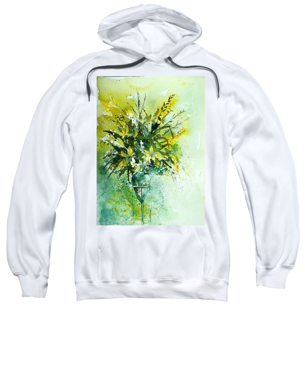 Flowers Sweatshirt featuring the painting Watercolor 120406 by Pol Ledent