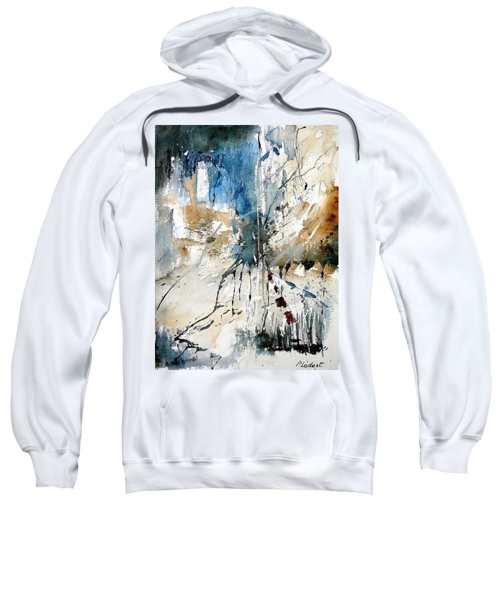 Abstract Sweatshirt featuring the painting Watercolor 251108 by Pol Ledent