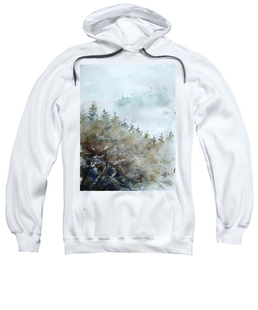 Tree Sweatshirt featuring the painting Watercolor 356214 by Pol Ledent