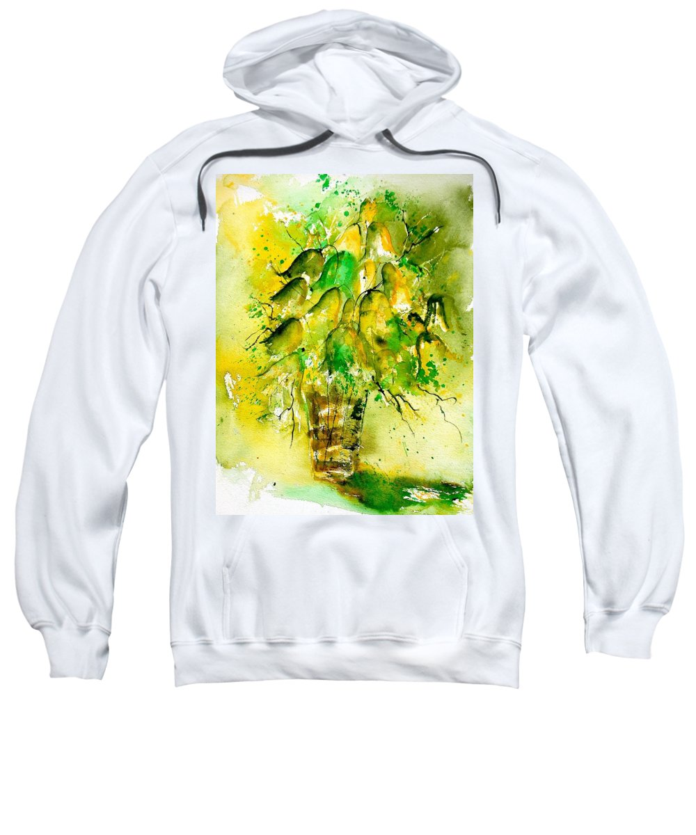 Flowers Sweatshirt featuring the painting Watercolor 90801 by Pol Ledent