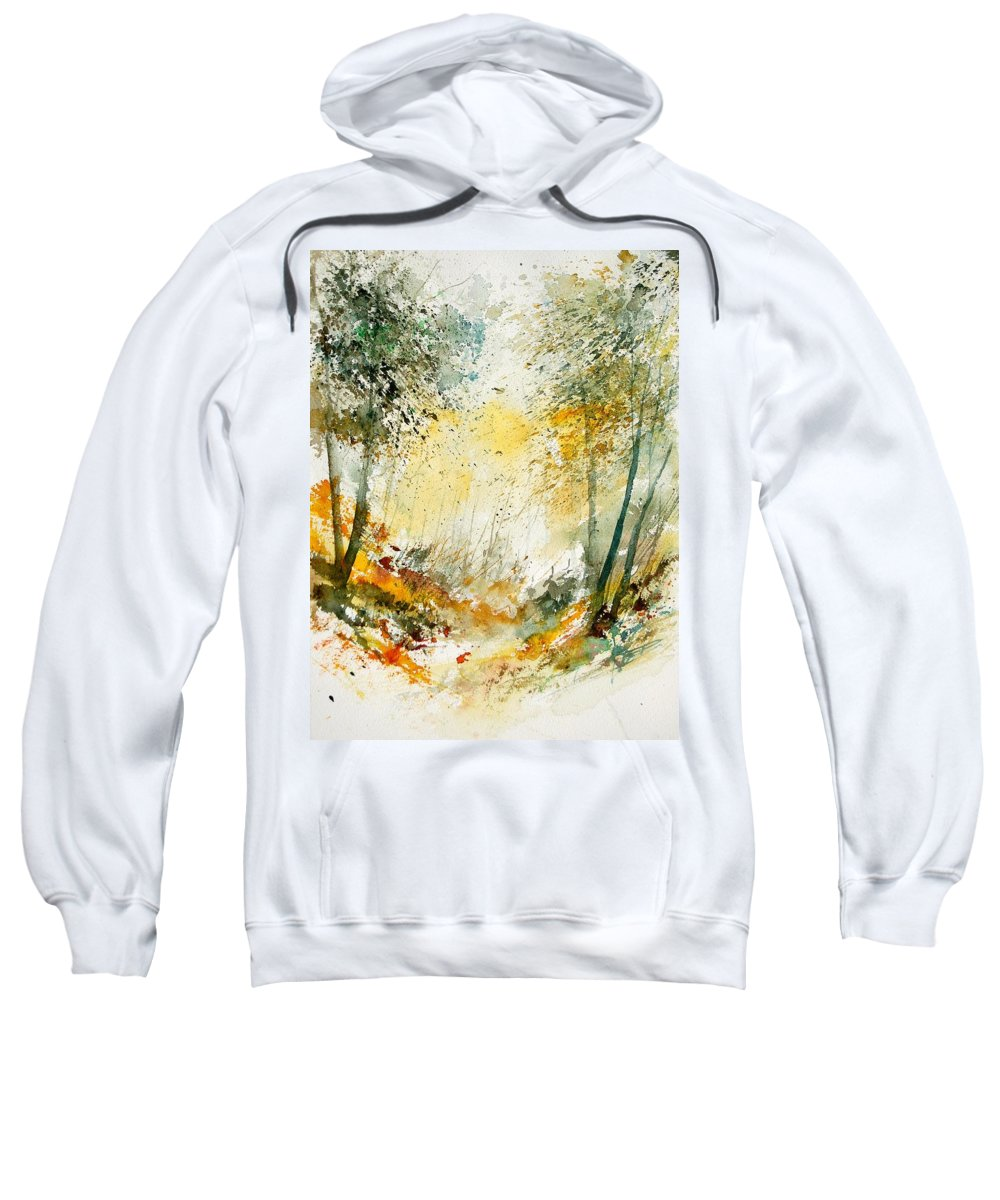 Tree Sweatshirt featuring the painting Watercolor 908021 by Pol Ledent
