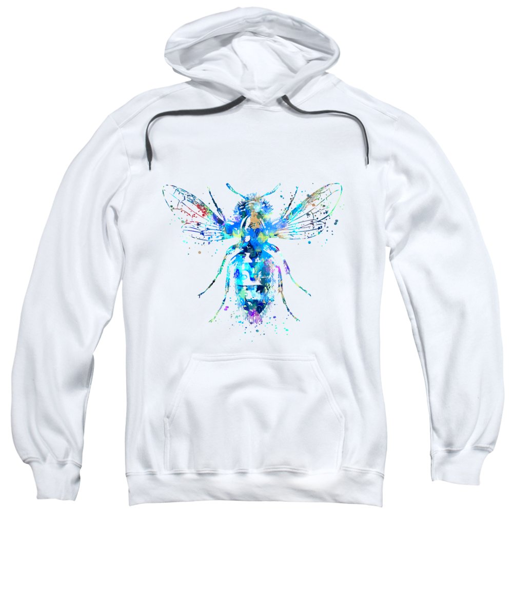 Bee Sweatshirt featuring the painting Watercolor Bee by Zuzi 's