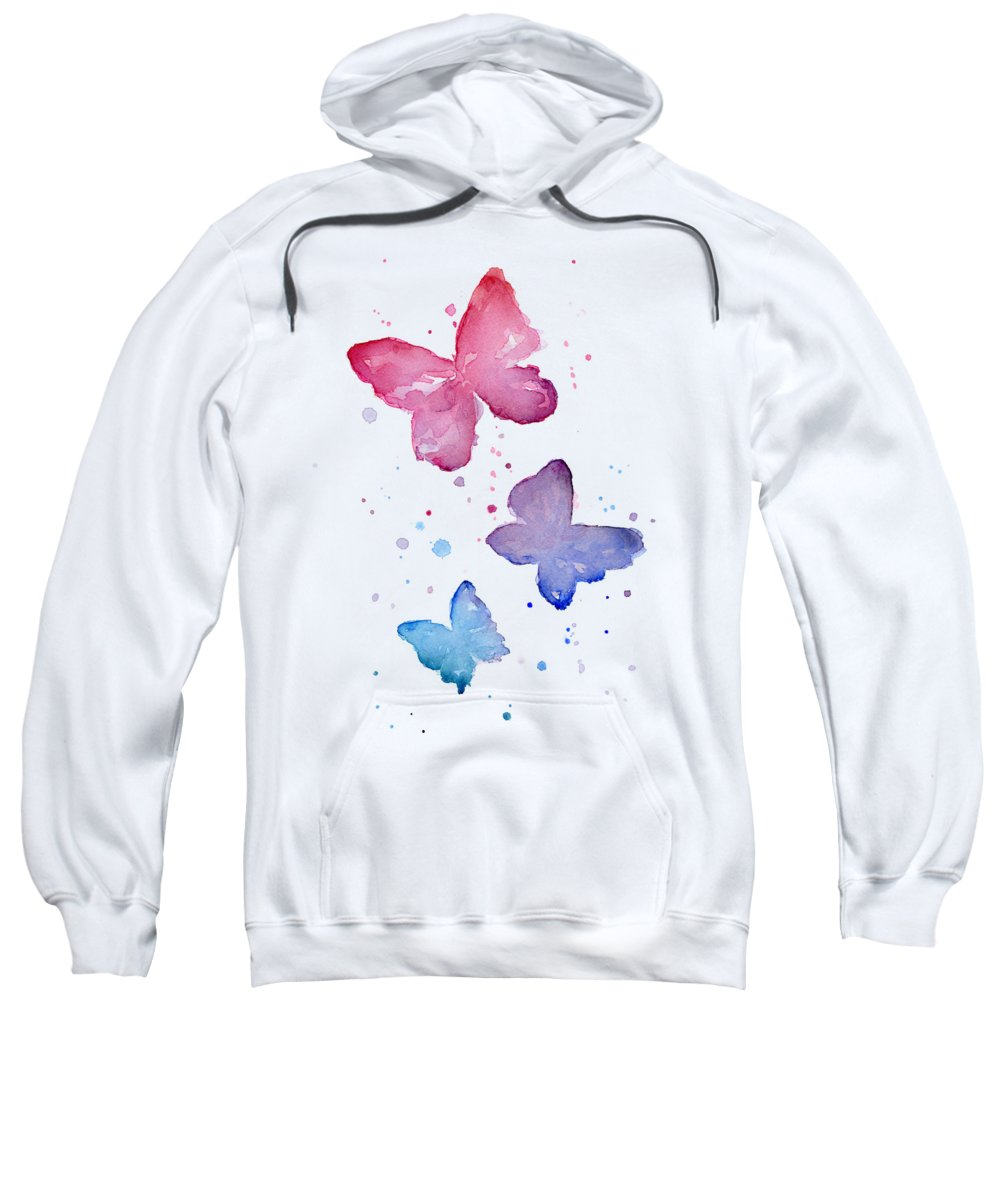 Butterfly Hooded Sweatshirts T-Shirts