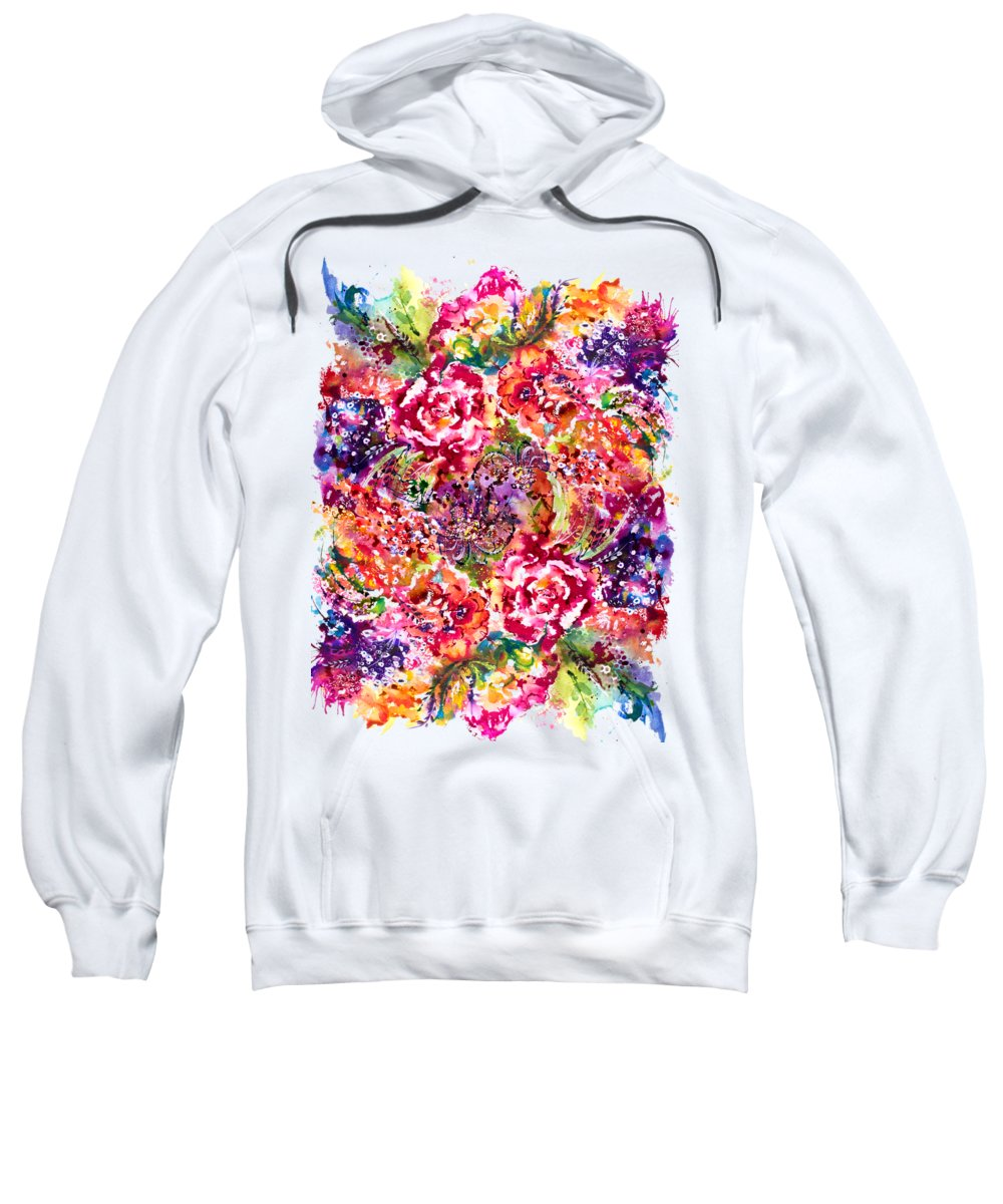 Flower Sweatshirt featuring the painting Watercolor Garden IIi by Isabel Salvador