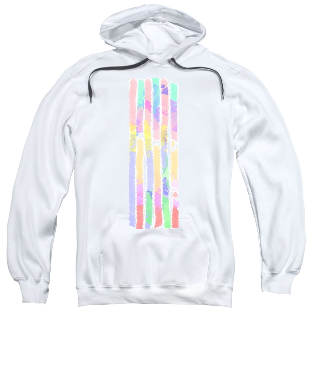 Watercolour Abstract Strips Sweatshirt featuring the digital art Watercolour Abstract Strips 2 by Keshava Shukla