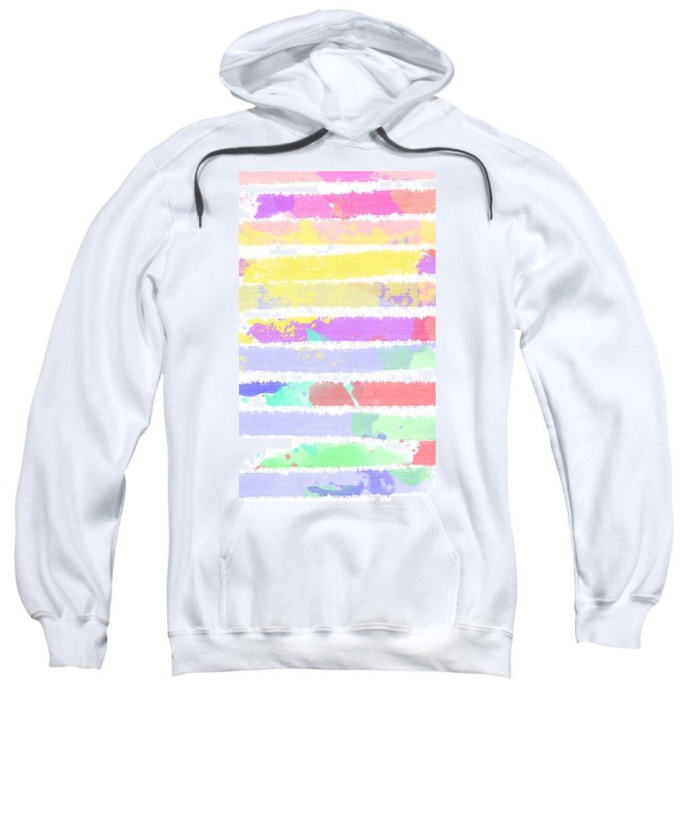 Watercolour Abstract Strips Sweatshirt featuring the digital art Watercolour Abstract Strips by Keshava Shukla