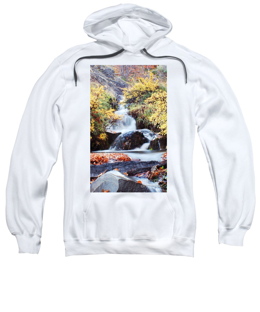 Sweatshirt featuring the photograph Waterfall In Autumn by Mircea Costina Photography