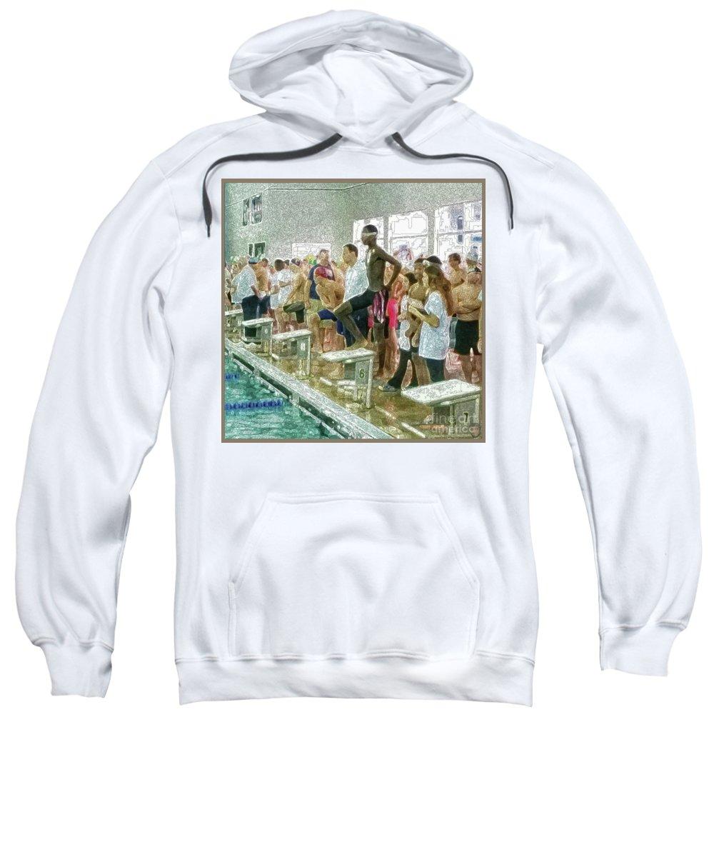 Inspiration Sweatshirt featuring the photograph We Swim by Roz Jackson