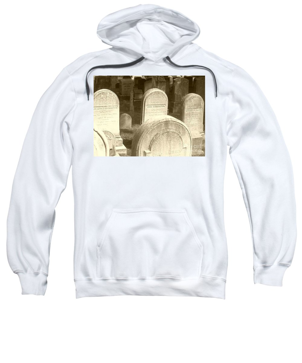 Cemetery Sweatshirt featuring the photograph Welcome by Debbi Granruth
