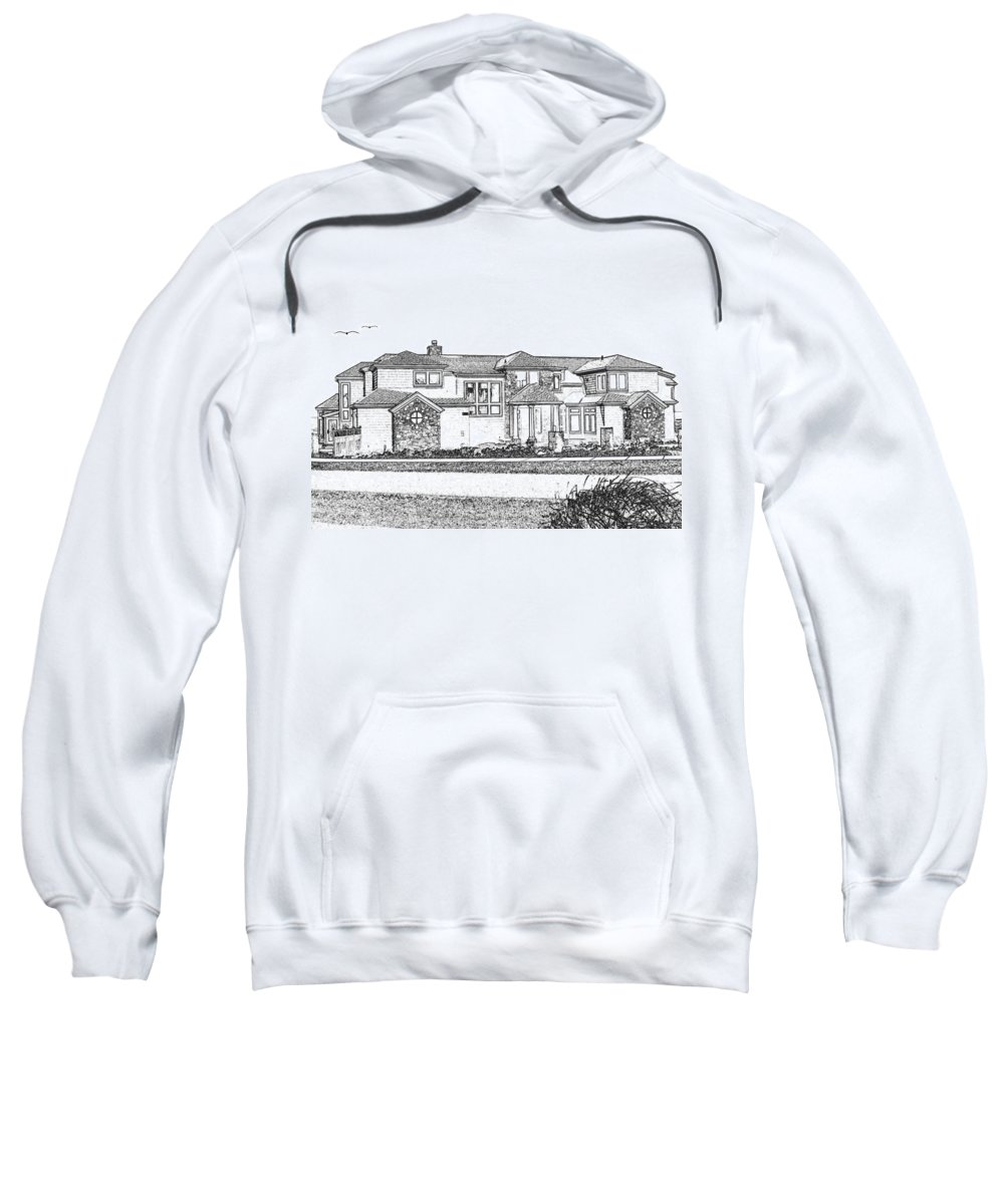 Welcome Home Sweatshirt featuring the digital art Welcome Home 3 by Will Borden