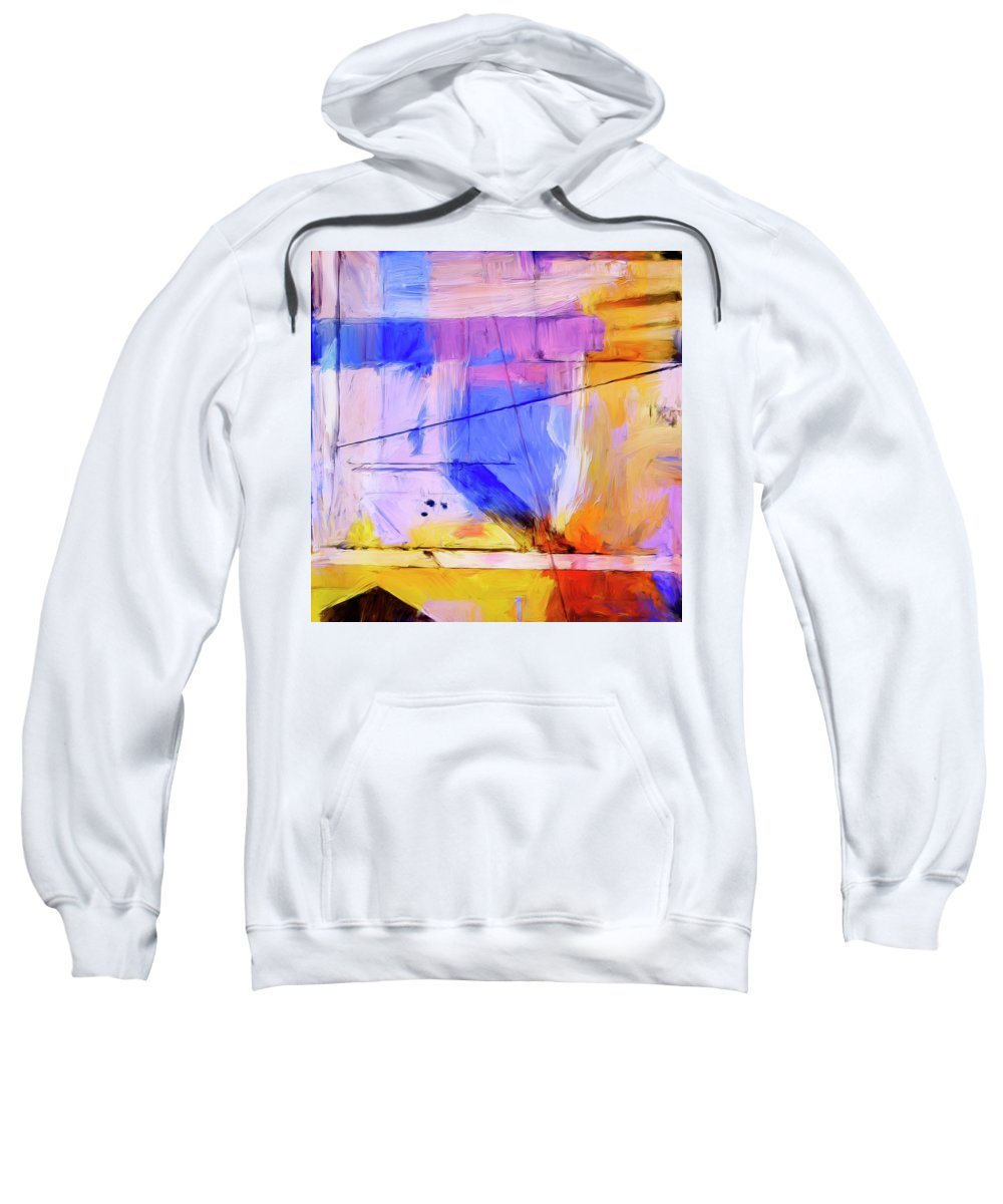 Abstract Sweatshirt featuring the painting Welder by Dominic Piperata