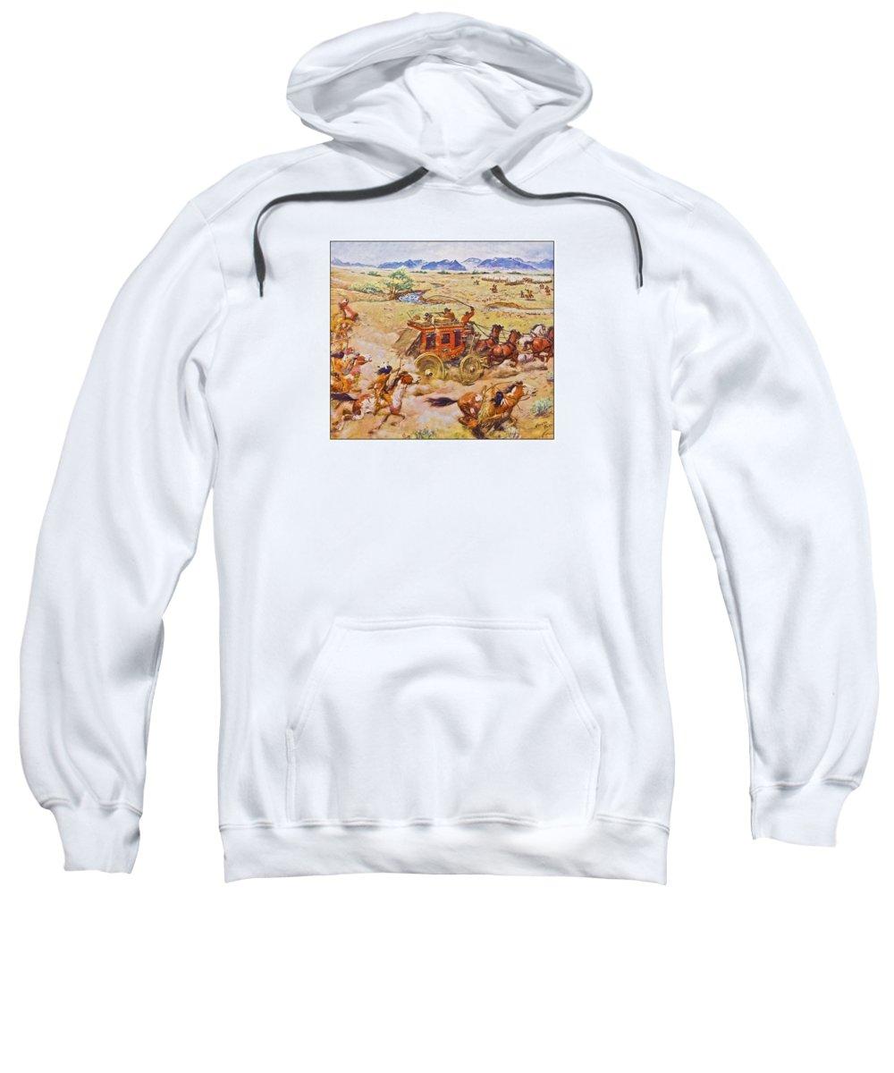 Antique Sweatshirt featuring the photograph Wells Fargo Express Old Western by Susan Leggett